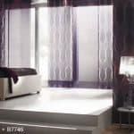 Flächenvorhang im Schlafzimmer