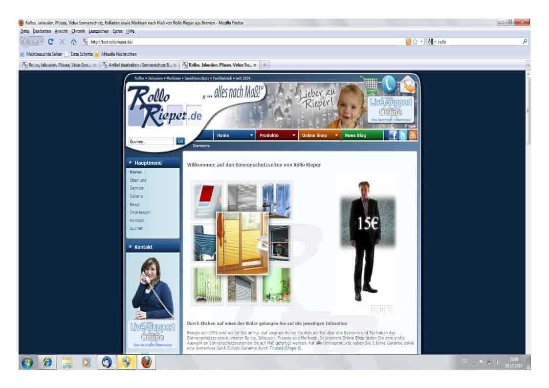 Neue Seiten von Rollo Rieper: Programmierer arbeiten auf Hochtouren