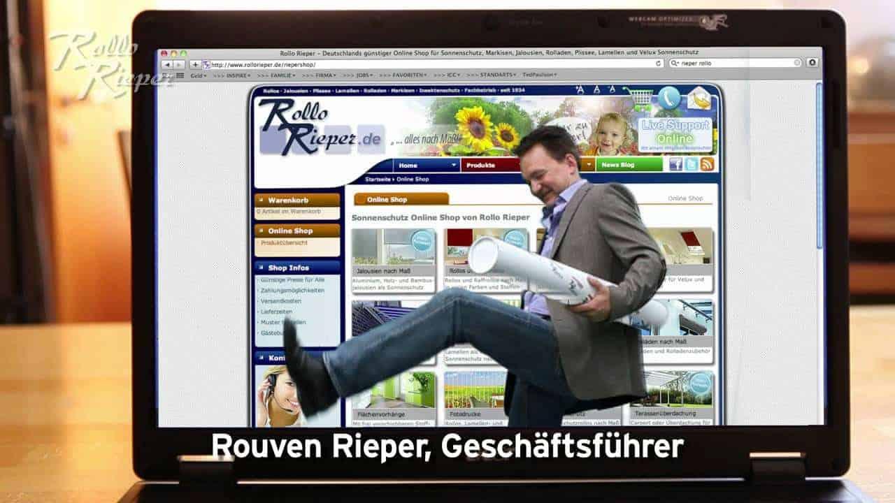 """""""Onkel Rieper"""" sorgt im neuen Fernsehspot von Rollo Rieper für geteilte Meinungen"""