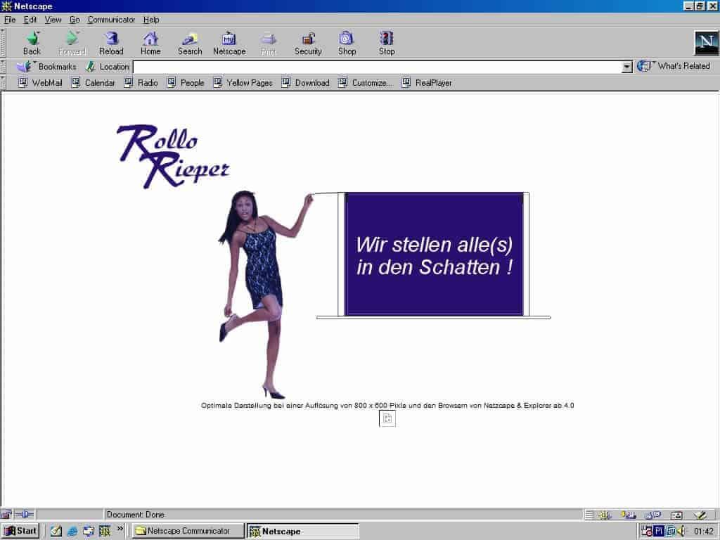 Von 1998 bis 2020: So haben sich die Internetseiten von Rollo Rieper in 20 Jahren entwickelt