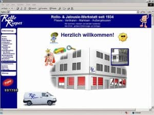 Von 1998 bis 2018: so haben sich die Internetseiten von Rollo Rieper in 20 Jahren entwickelt – Idee, Gestaltung und Ziele