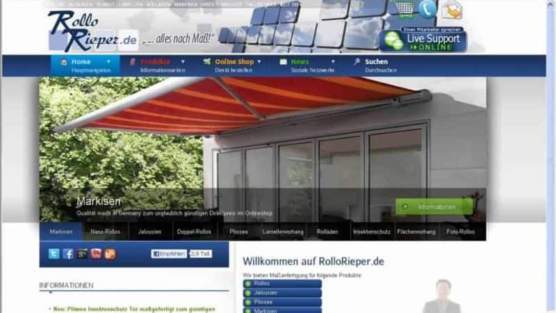 Die neuen Internetseiten von Rollo Rieper sind jetzt online. Die Umstellung auf das neue Layout und die neuen Bestellprozesse hat gut funktioniert.