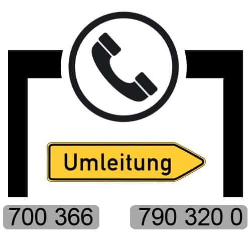 Umleitung der Telefonnummer von 700366 auf 7903200