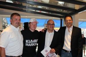 Von links: Sven Dähn, Joey Kelly, Erich Aichinger, Rouven Rieper