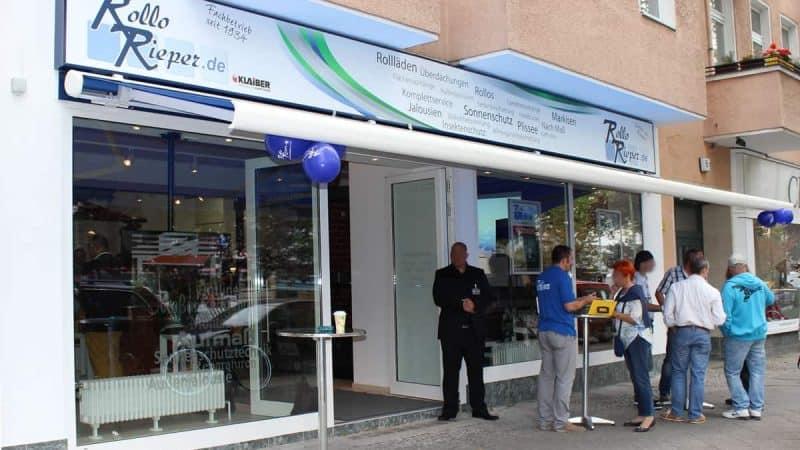 Rollo Rieper eröffnet neue Filiale in Berlin Steglitz. Am 19.09.2014 steigt die große Eröffnungsfeier.