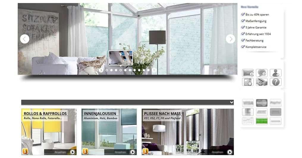 Onlineshop für Sonnenschutz und Insektenschutz von Rollo Rieper