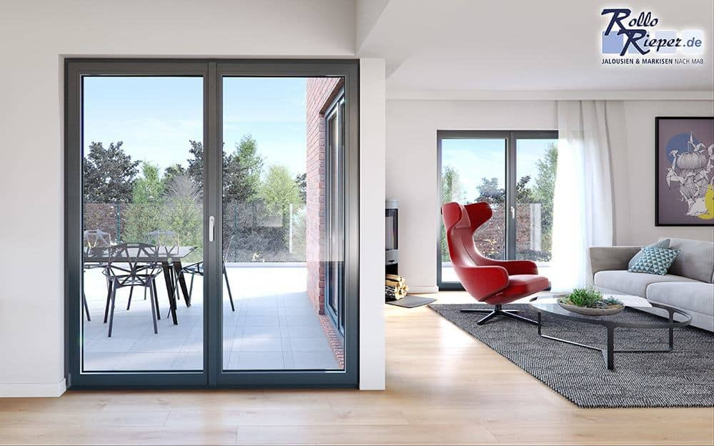Grande Classic Kunststofffenster als Balkontüren von Rollo Rieper