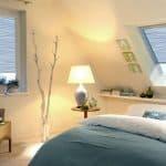 KADECO Kassettenrollo und Dachfensterrollo in 20441 brilliantblau weiß gestreift