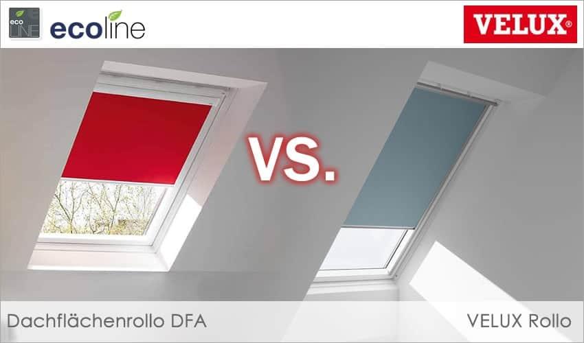 VELUX Rollo Vergleich: Wie schneiden Original VELUX Rollos im Vergleich zu Maß-Rollos für VELUX-Fenster ab?