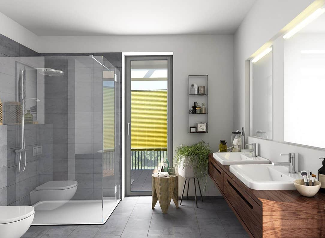 Badezimmer Sichtschutz für Fenster Plissee, Rollo oder Jalousie