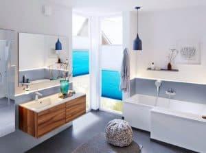 Badezimmer Sichtschutz: Plissee DUETTE VS 2+2 von Rollo Rieper