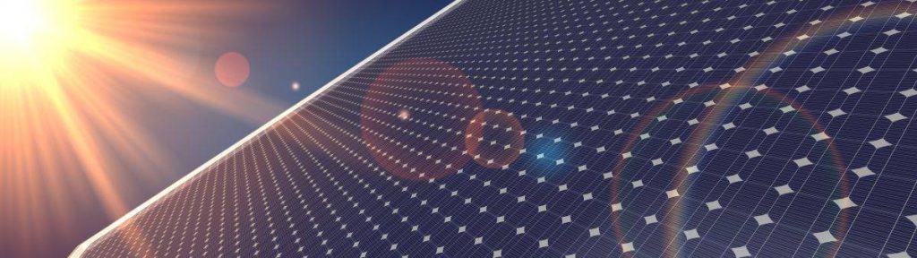 Gewinnung der Sonnenenergie durch Photovoltaik
