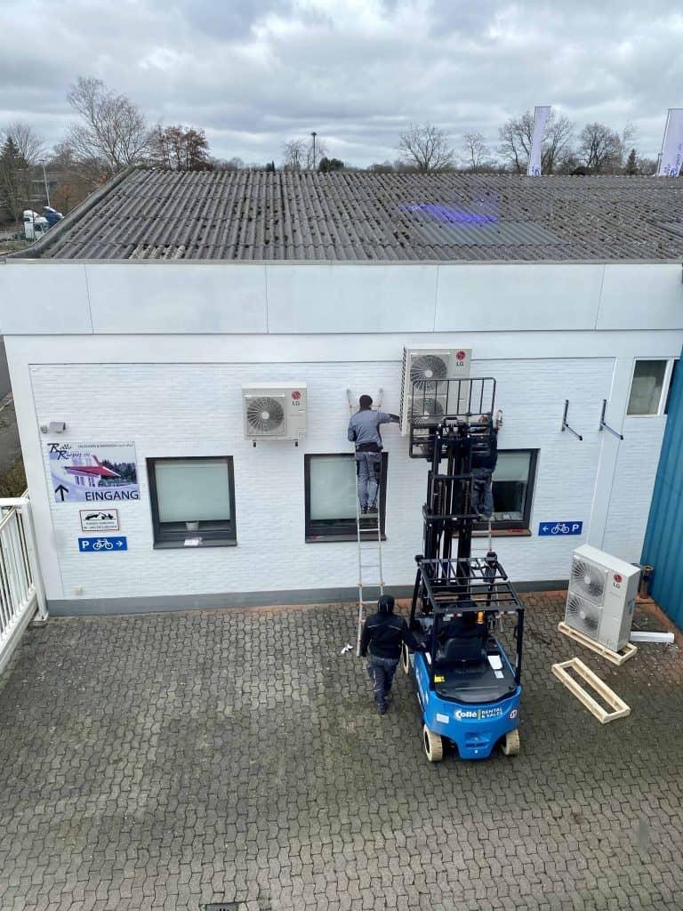 Installation der Klimatechnik bei Rollo Rieper