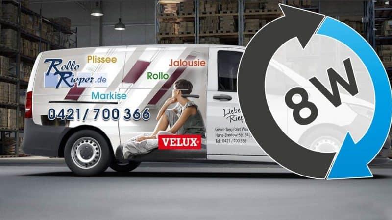 8 Wochen Rückgaberecht für VELUX Sonnenschutz bei Rollo Rieper