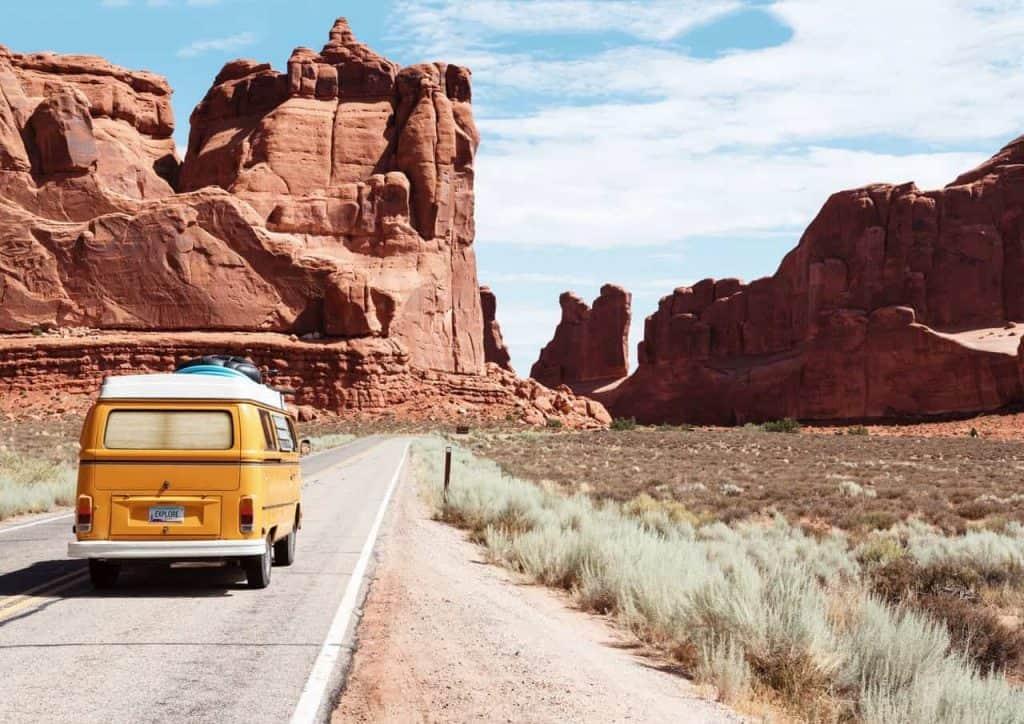 Trip USA mit Camping Bus & Plissee