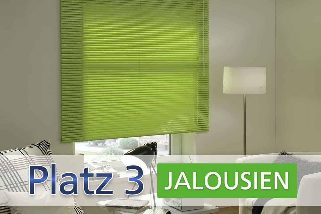 Platz 3: Jalousien