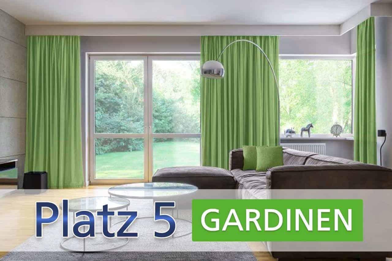 Platz 5: Gardinen und Vorhänge