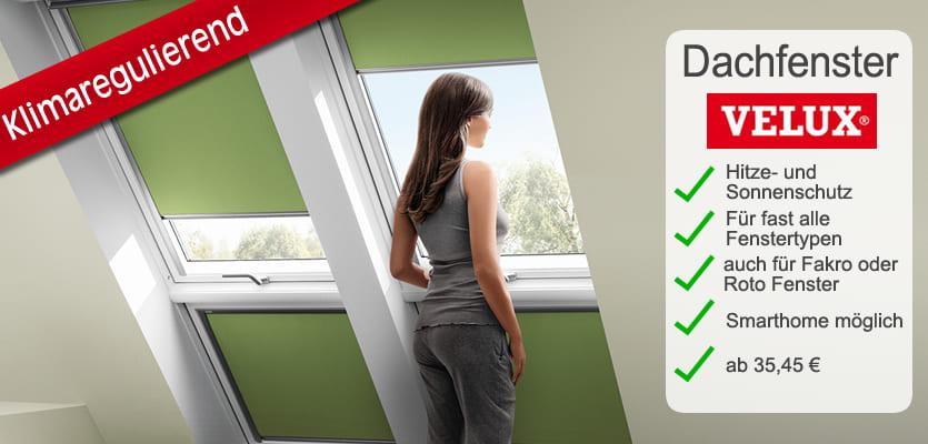 Super VELUX® Dachfenster: passende Rollos & Plissees mit großer Stoffauswahl EL52