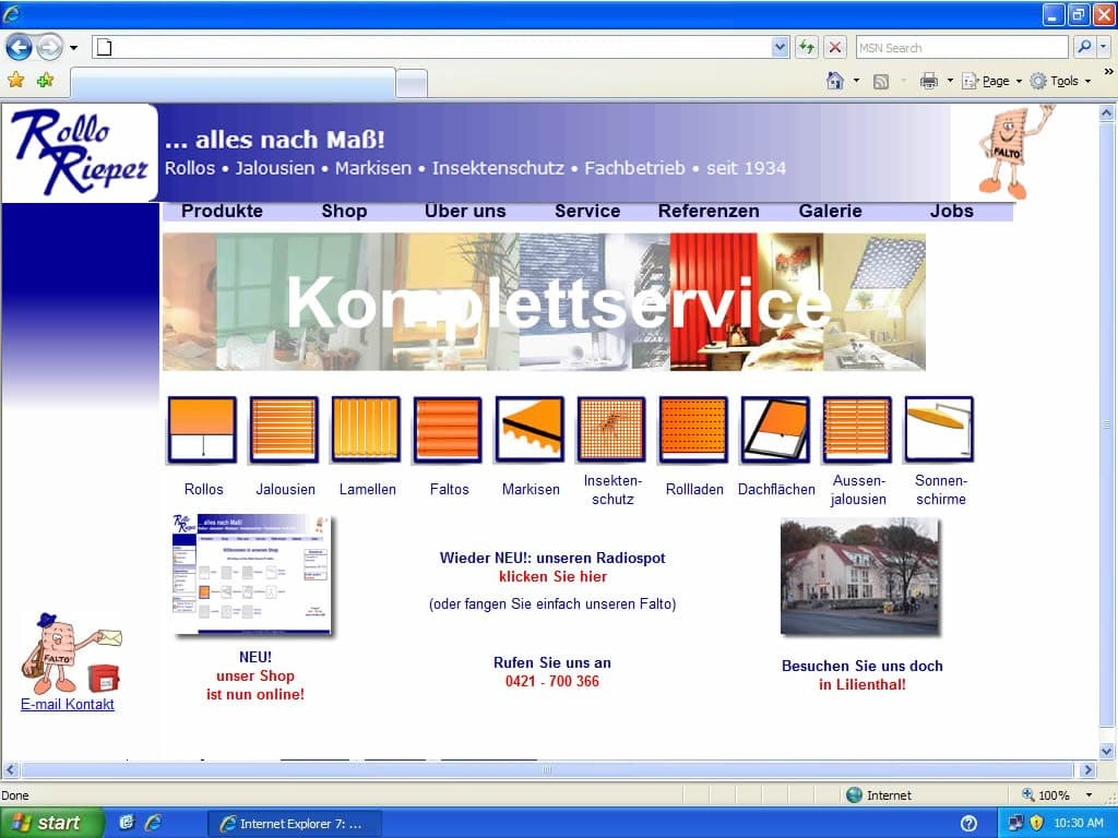 2006: Rollo Rieper mit Trusted Shops zertifikat
