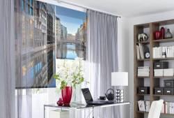 interesting raffrollo badezimmer fotodruck foto rollos mit. Black Bedroom Furniture Sets. Home Design Ideas