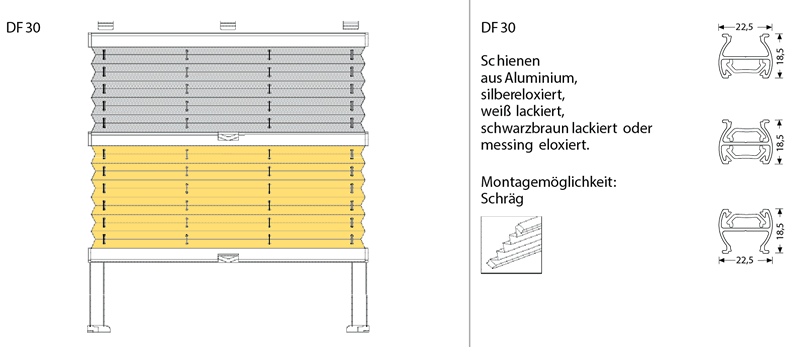 Cosiflor® Dachfensterplissee DF30