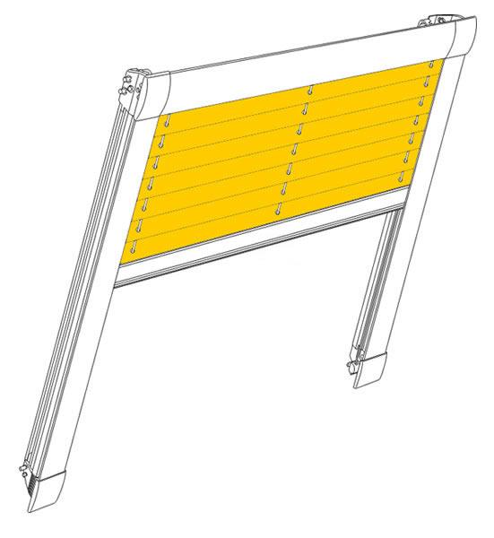 df10 comfort plissee g nstig nach ma. Black Bedroom Furniture Sets. Home Design Ideas