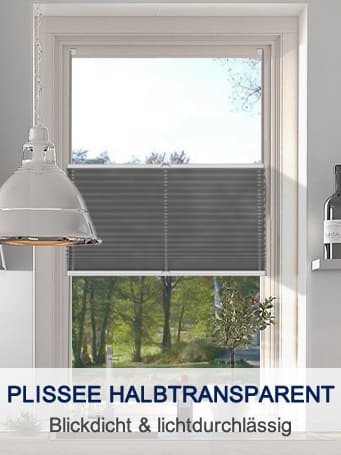 Halbtransparenter Plisseestoff