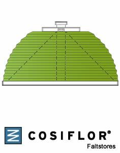 plissee sonderformen plissees f r runde oder schr ge fenster. Black Bedroom Furniture Sets. Home Design Ideas