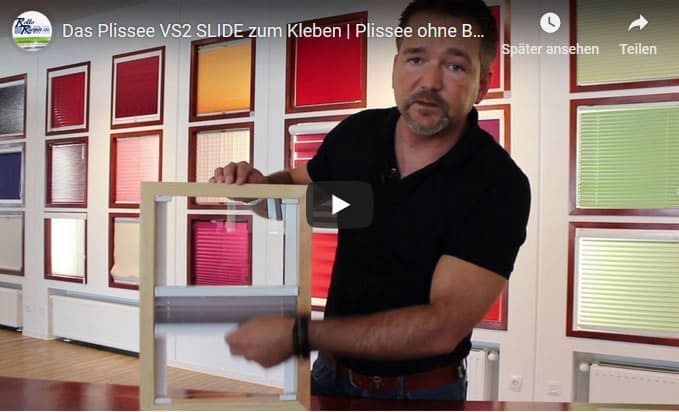 Youtube Film Vorschaubild - Plissee Slide