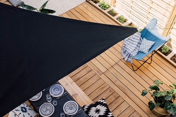 Sonnensegel Sonnenschutz Beschattung Wasserdicht Winddicht 98/% UV-Schutz Blau DE