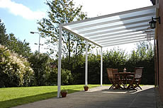 Terrace canopy made to measure