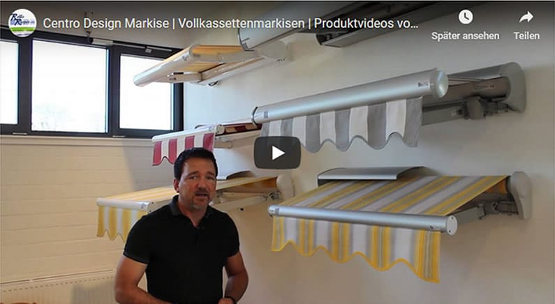 Youtube Film Vorschaubild - Vollkassettenmarkise Centro Design