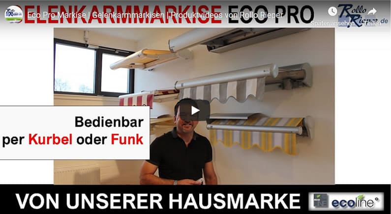 Youtube Film Vorschaubild - Gelenkarmmarkise Eco Pro