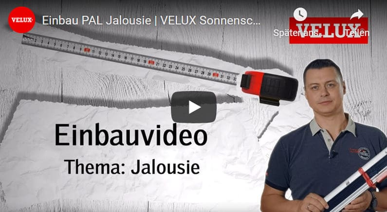 Youtube Film Vorschaubild - Jalousie VELUX