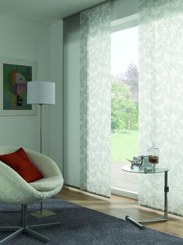 fl chenvorhang stoff uni waschbar grau. Black Bedroom Furniture Sets. Home Design Ideas