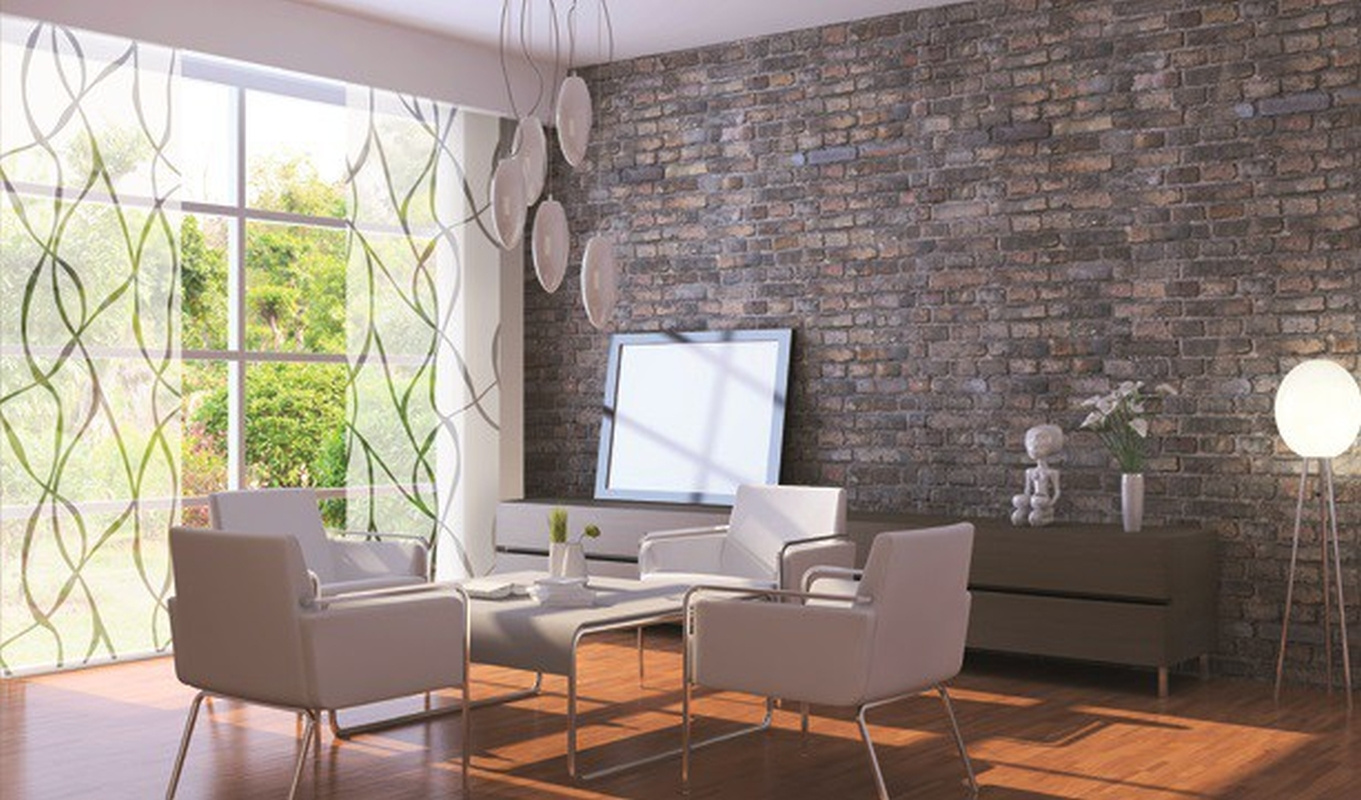 fl chenvorhang wave waschbar wei grau. Black Bedroom Furniture Sets. Home Design Ideas