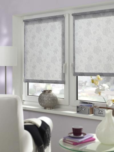 easyfix rollo dekor stickerei verschiedene gr en lichtdurchl ssig silber. Black Bedroom Furniture Sets. Home Design Ideas